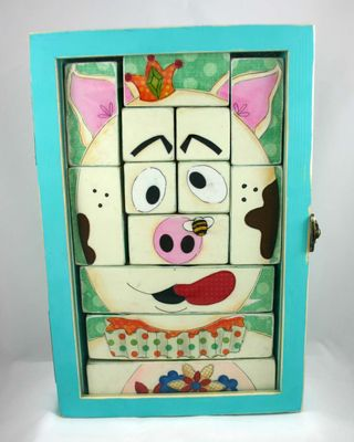 Puzzeled pig crop by dana newsom and janet hines