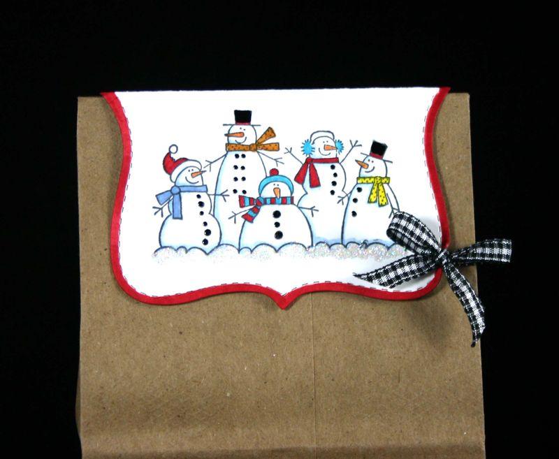 Bag topper snowmen - dana newsom