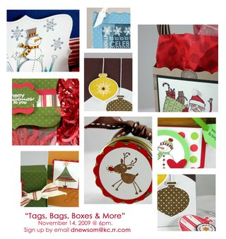 Bags,Tags, Boxes & More class sneak peak