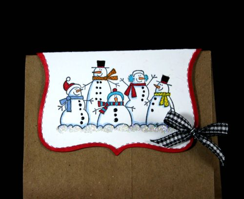 Bag topper snowmen 2- dana newsom