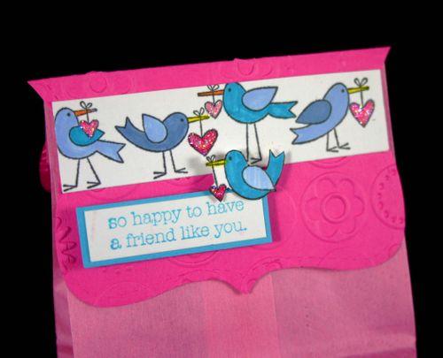 Bag topper sweat birds - dana newsom