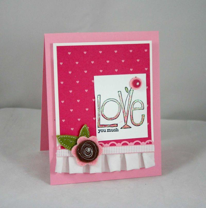 Love you Much card - Dana Newsom