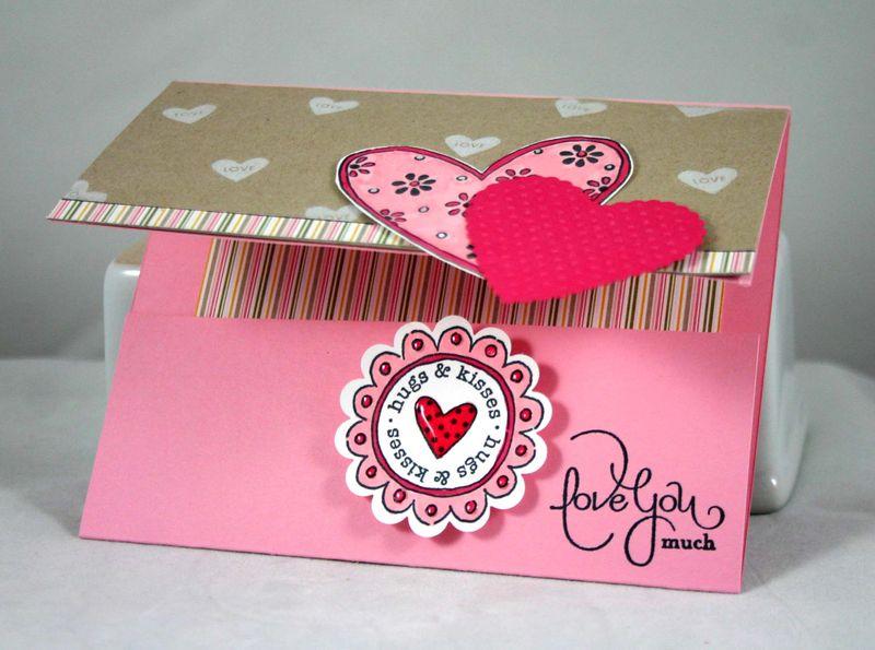 Hugs and kisses card pocket - Dana Newsom