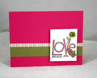 Love you Much tag card - Dana Newsom