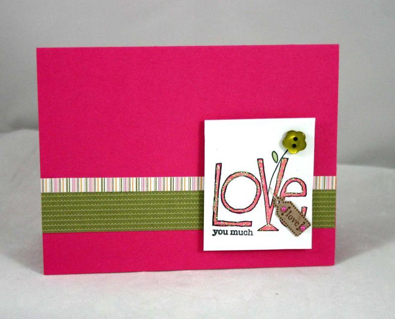 Love you Much tag card - Dana Newsom