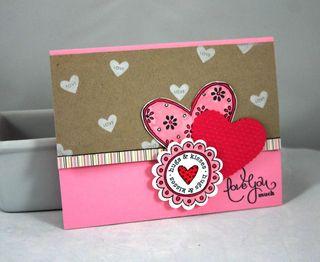 Hugs and kisses card - Dana Newsom
