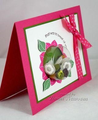 Flower thast was so sweet card side- Dana Newsom