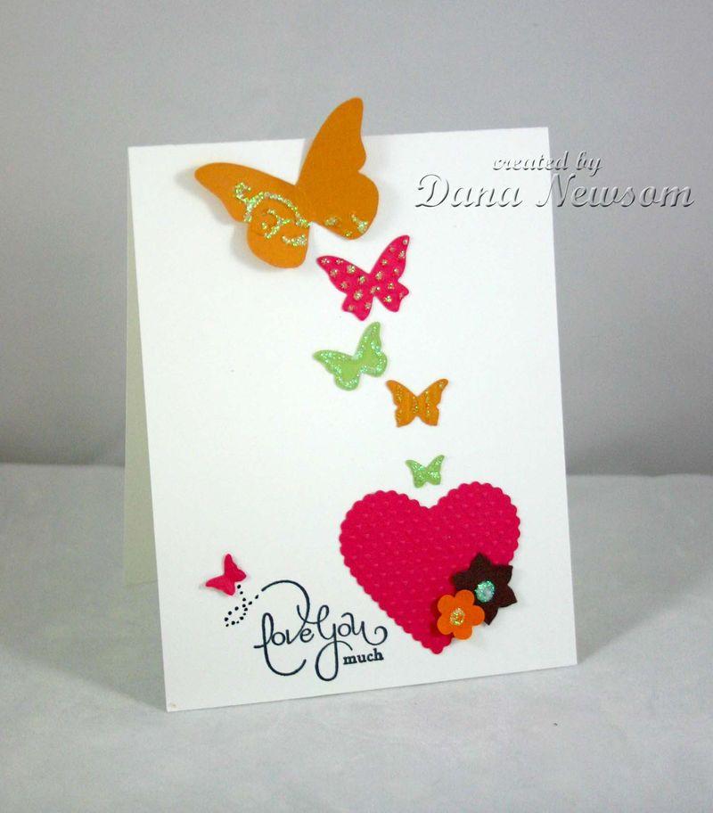 Love You Much Butterfly card - Dana Newsom