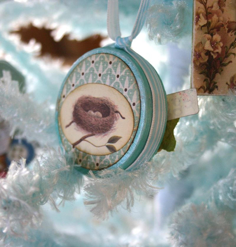 Bird ornament back- dana newsom