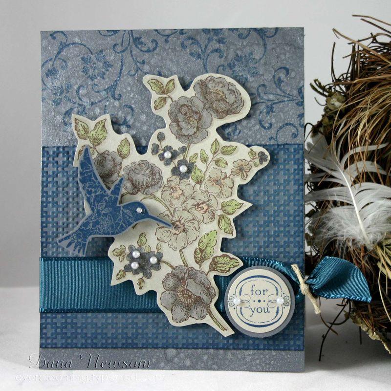 Humming bird for you card- dana newsom