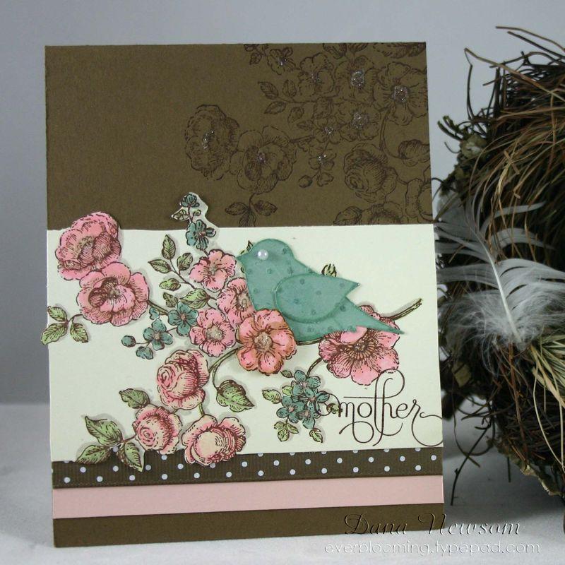 Mother bird card- dana newsom