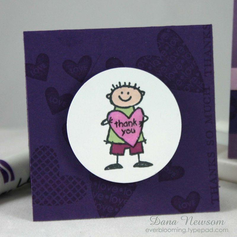 Thank you purple set card 1- dana newsom