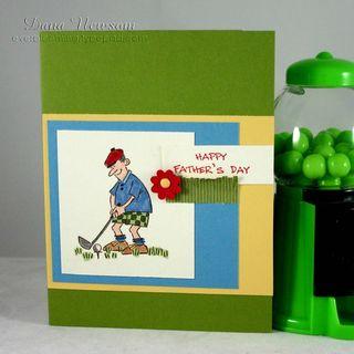 Golfin fathers day card - dana newsom