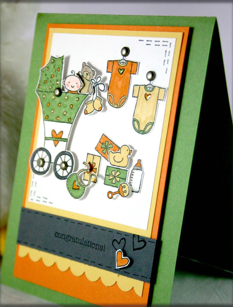 CONGRATS BABY CARD DETAIL - DANA NEWSOM