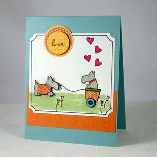 Puppy love card - dana newsom