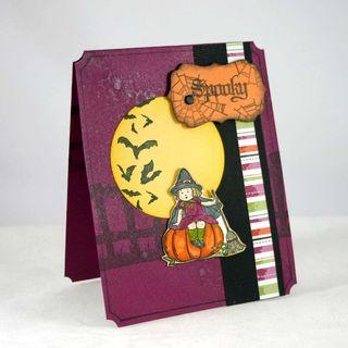 Spooky halloween card - dana newsom