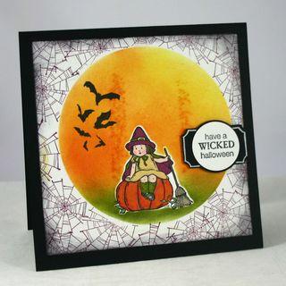 Wicked halloween card - dana newsom