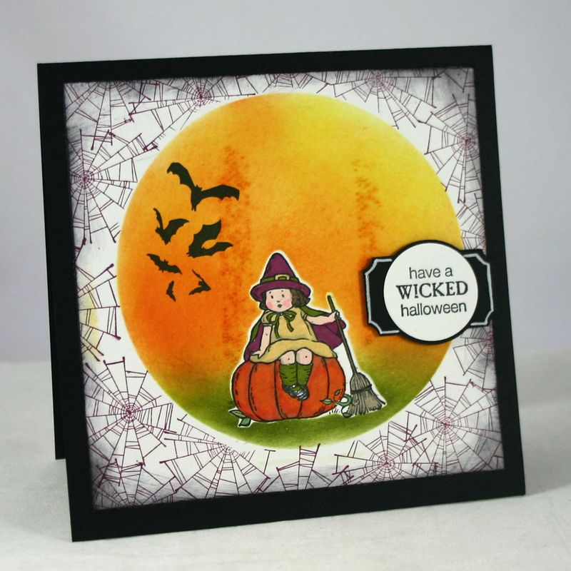 Wicked halloween card - dana newsom