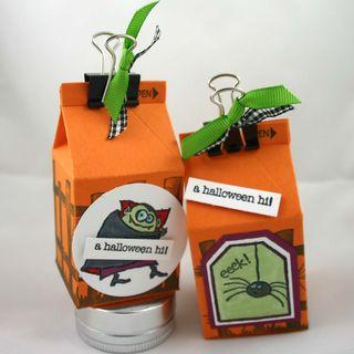 Vampire & spider milk cartons