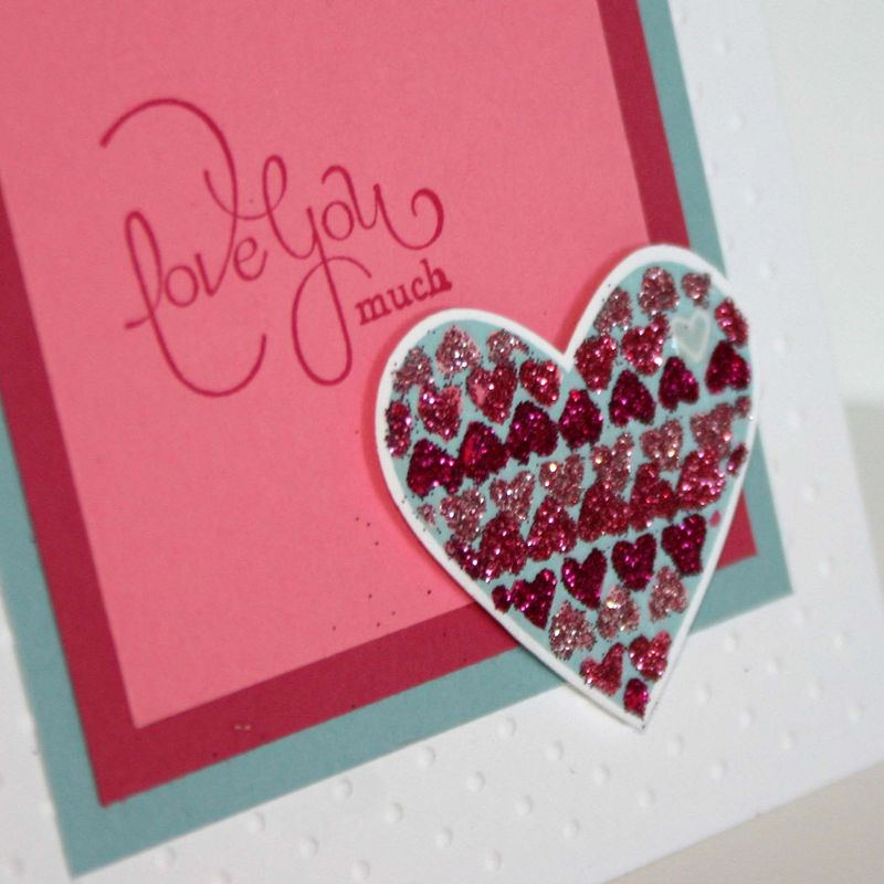 Valentine glittered Heart detail- dana newsom