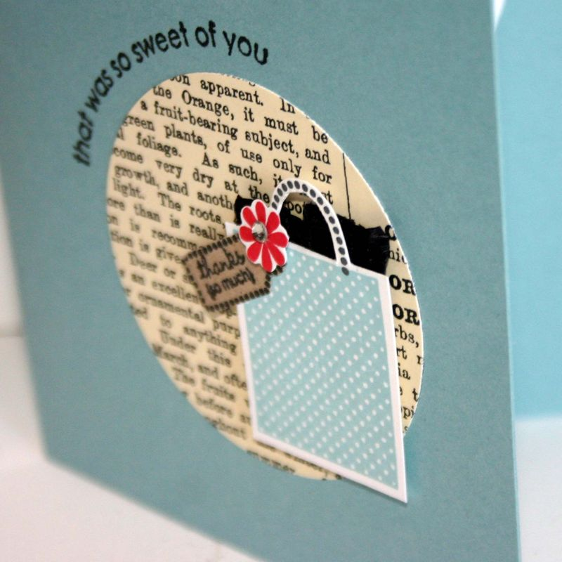 Your so sweet gift bag card detail- dana newsom