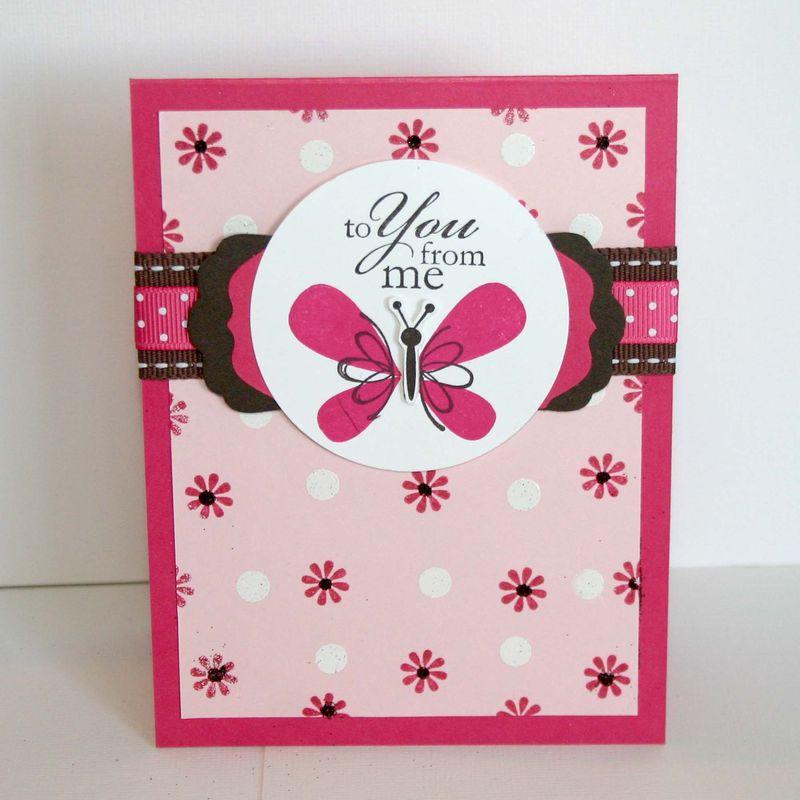 To You Butterfly Card - dana newsom