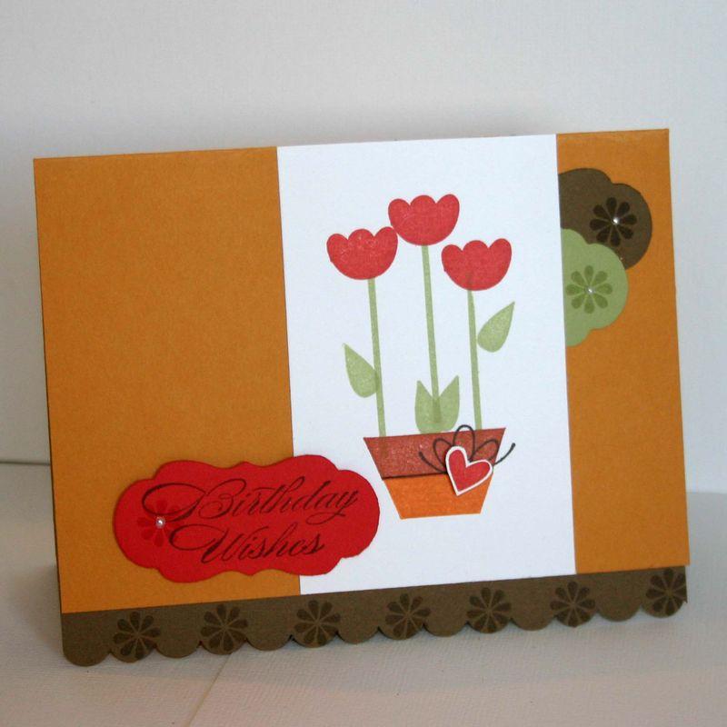 Tullip garden card - dana newsom