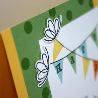 Happy Birthday Banner card setail - dana newsom