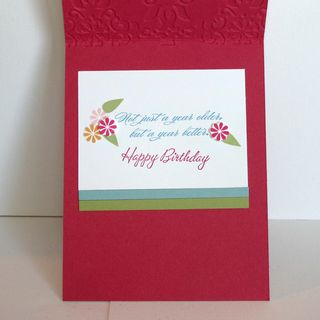 May Flower Card inside - dana newsom