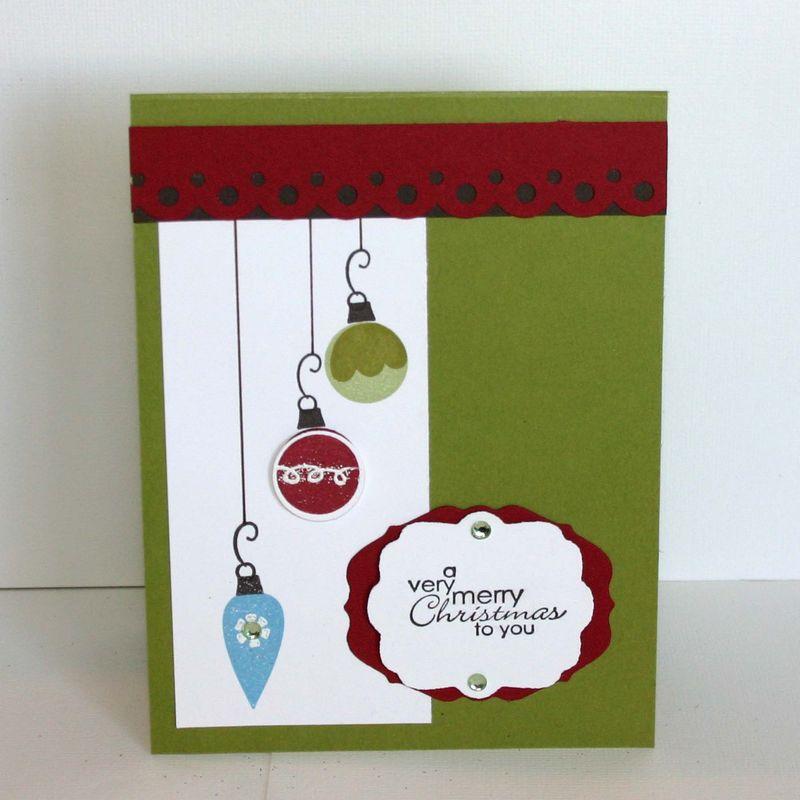 Build an ornament card- dana newsom