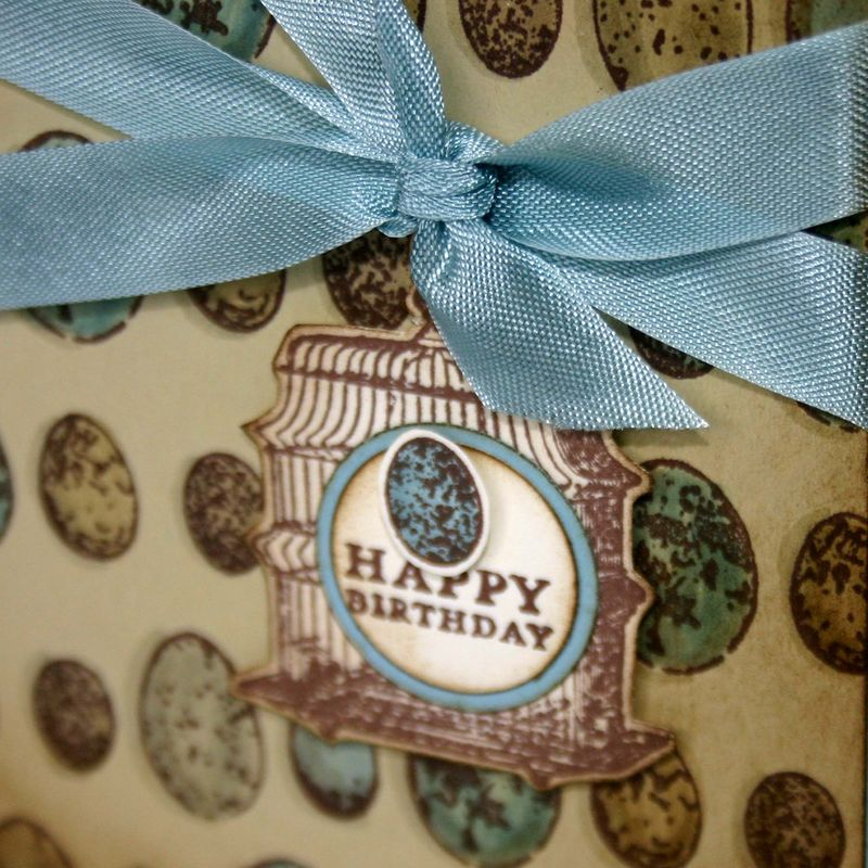 Happy birthday egg card detail - dana newsom