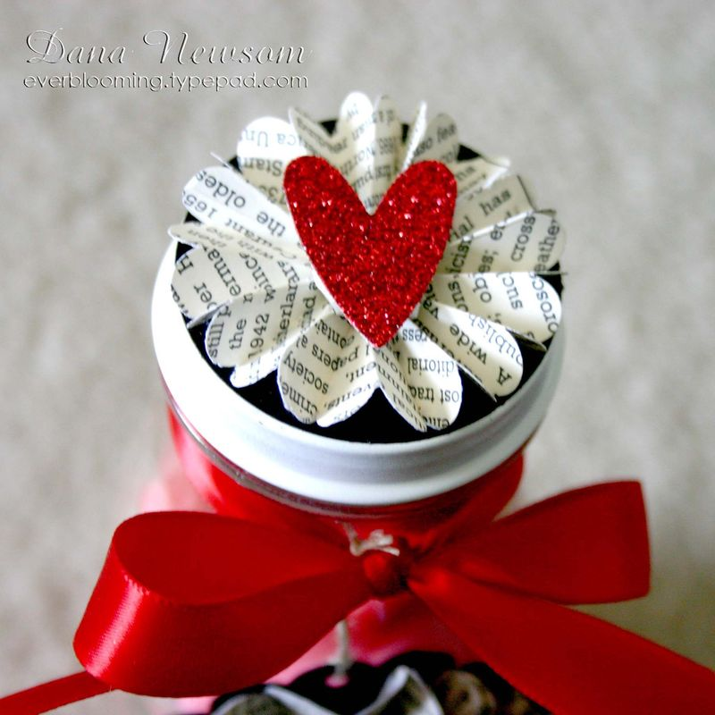 Sweet Valentine Jar lid 3- dana newsom
