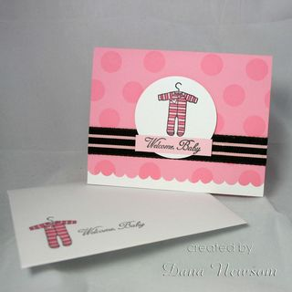 Welcome baby card & envelope 3- dana newsom