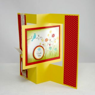 Thank you floating bird card - dana newsom