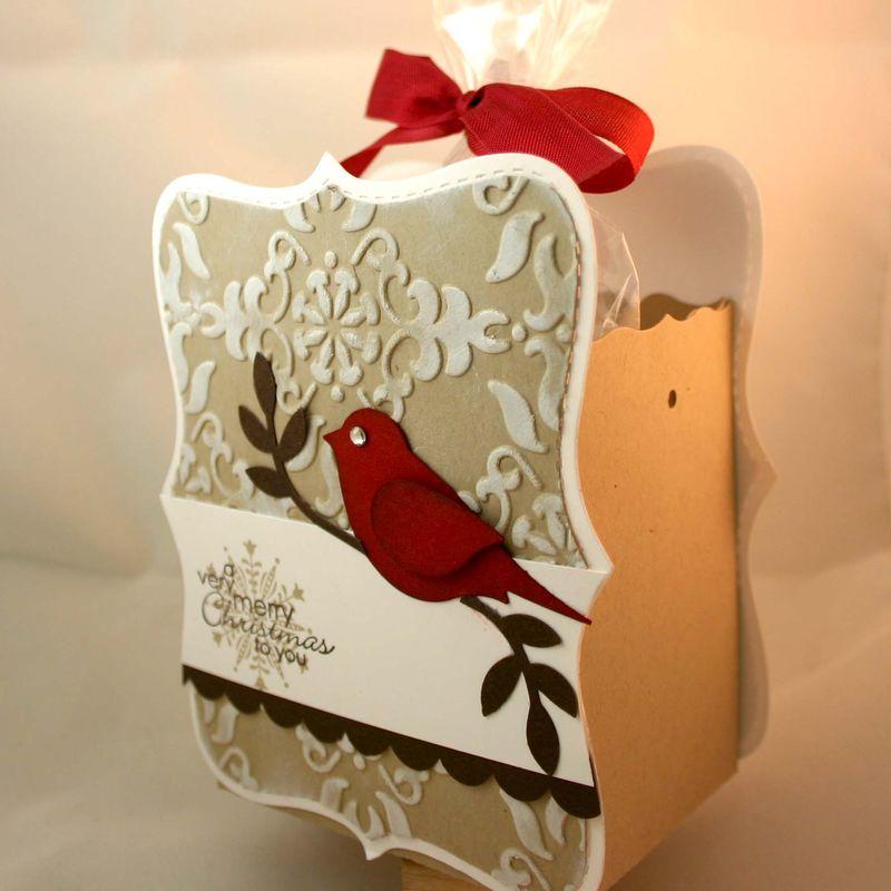 Merry christmas cardinal bag side - dana newsom