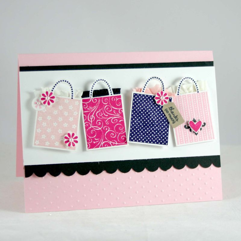 Shopping thanks card - dana newsom
