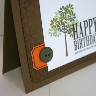 Happy Birthday Tree card detail - dana newsom