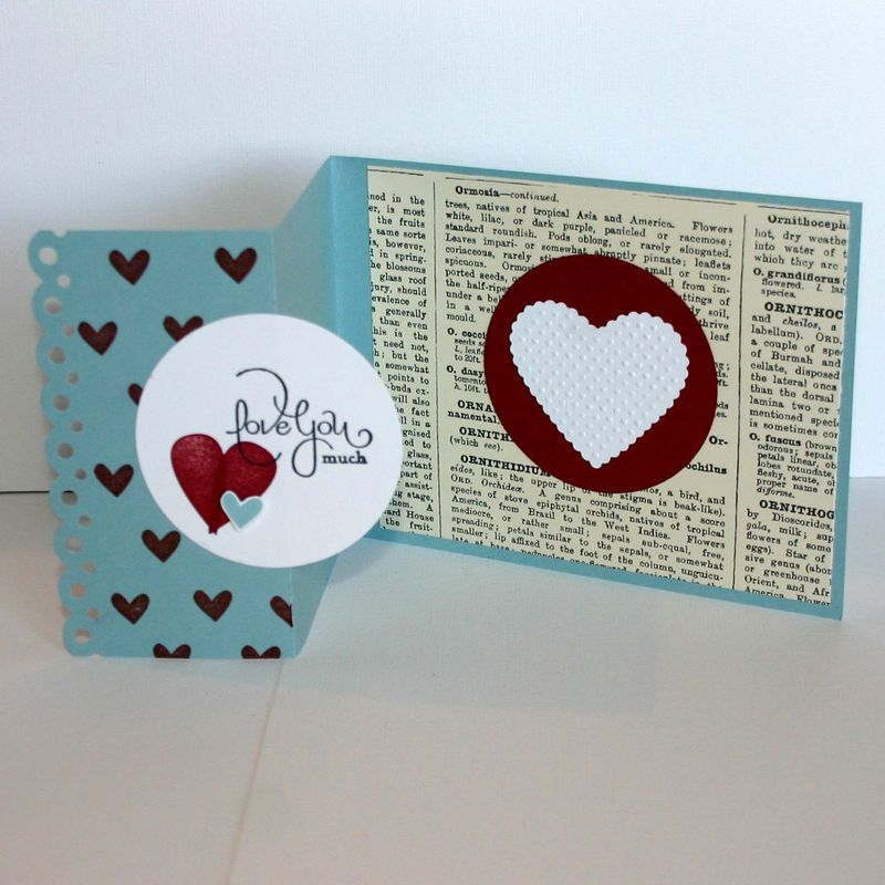 Love much valentine card open - dana newsom