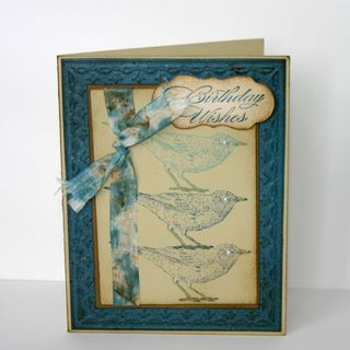 Birthday Wishes Bird Card - dana newsom