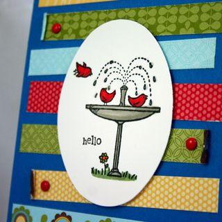 Hello birds card detail - dana newsom