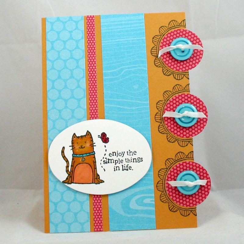 Simple things cat card - dana newsom