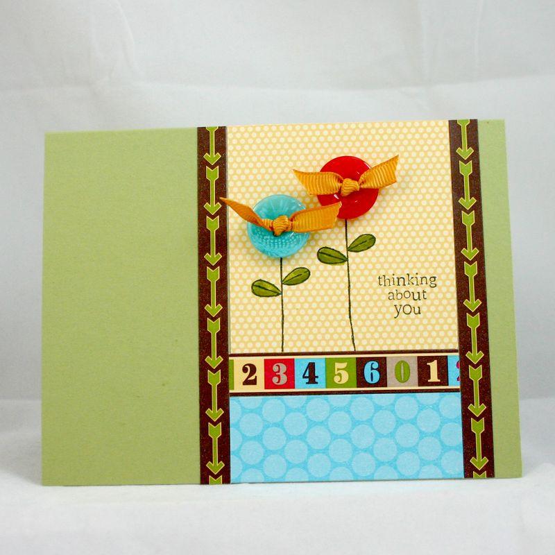 Lollip pop flower card  - dana newsom