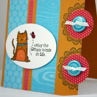 Simple things cat card detail - dana newsom
