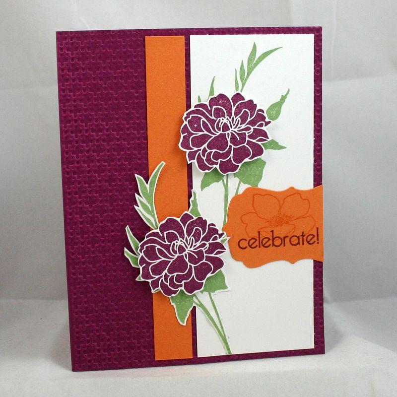 Celebrate with flowers card  - dana newsom