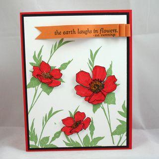 Laugh in Flowers card 2- dana newsom