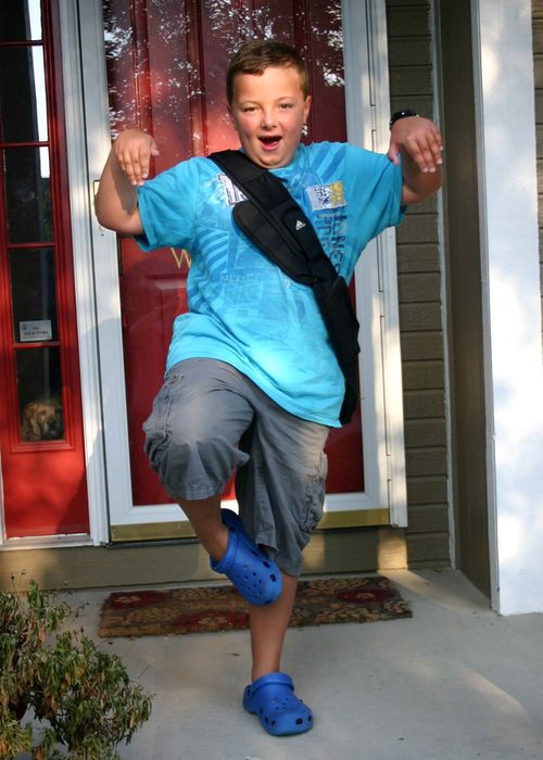 2010 first day of 3rd grade crazy guy 2