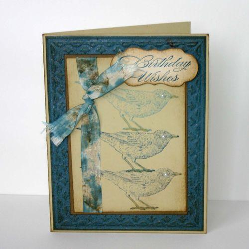 Birthday Wishes Bird Card 2- dana newsom