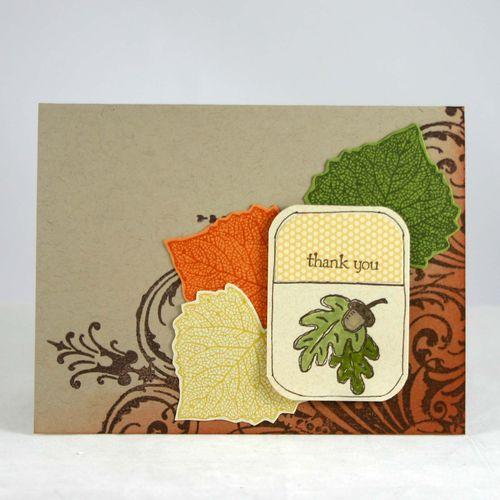 Fall thank you card - dana newsom