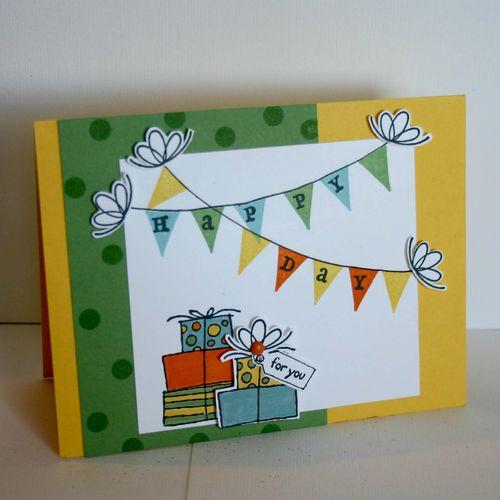 Happy Birthday Banner card 2- dana newsom