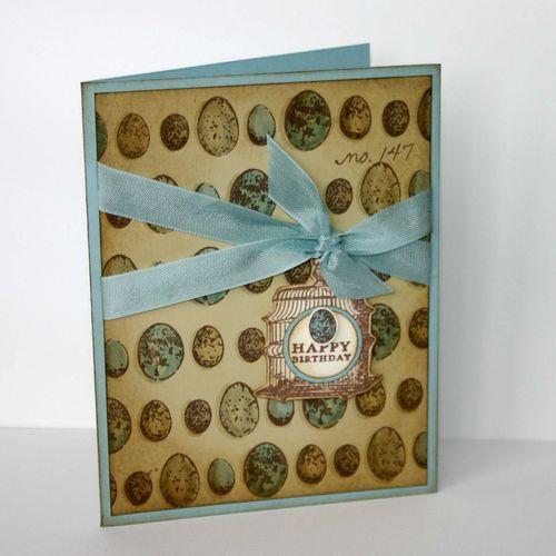 Happy birthday egg card - dana newsom